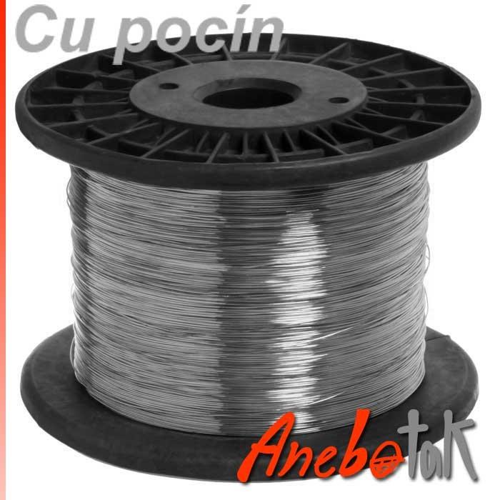 Pocínovaný drát měděný 0,8 mm, cívka 3,1 kg