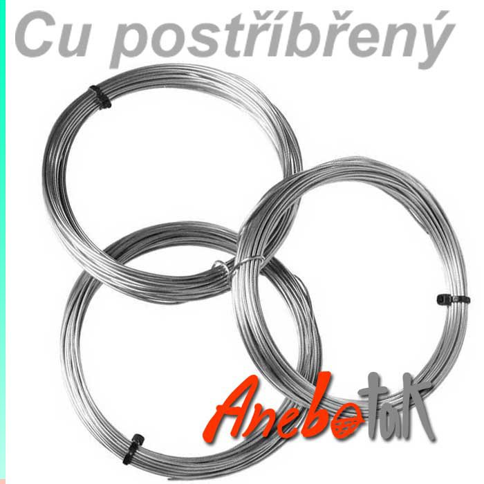Ag postříbřený drát polotvrdý, 0,8 mm, 10 m