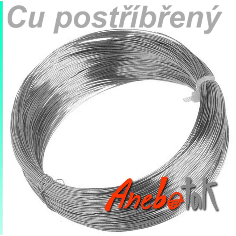 Ag postříbřený drát polotvrdý, 0,8 mm, 100 m