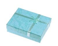 Dárková krabička azurová 9x7x3 cm