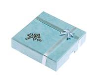 Dárková krabička azurová 9x9x2 cm
