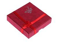 Dárková krabička červená 9x9x2 cm