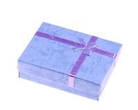 Dárková krabička modrá 9x7x3 cm