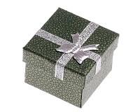 Dárková krabička zelená 4x4x3 cm