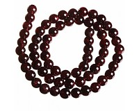 Granát, korálky 8 mm (50 ks)