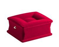 Sametová dárková krabička červená, 7,5x6x3 cm